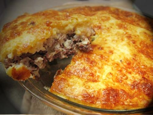 Impossible Cheesburger Pie