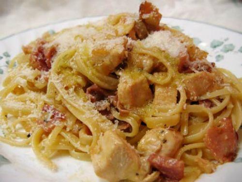 Pasta Carbonara Con Pollo Recipe