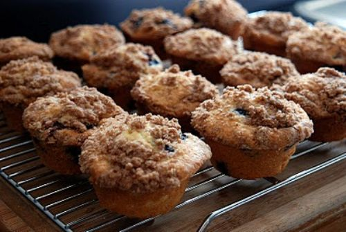 Double Blueberry Crumb Muffin