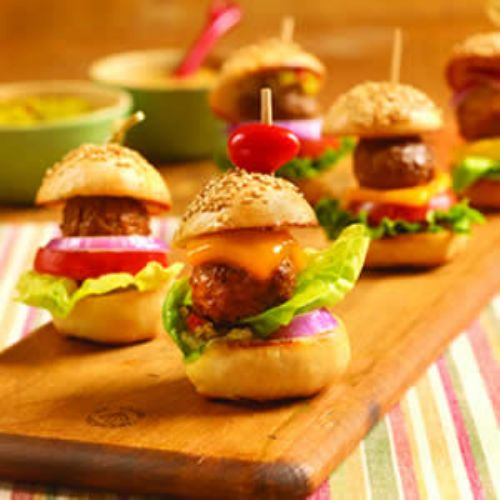 Mini Meatball Hamburgers