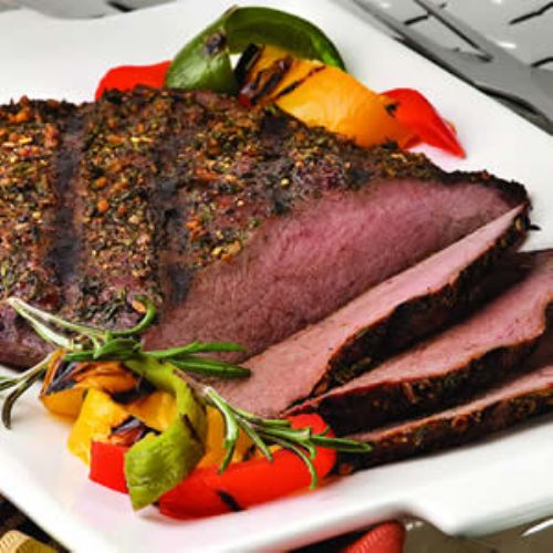 Pepper and Herb Crusted Flank Steak