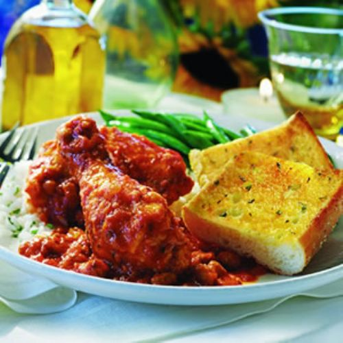 Chicken Italiano With Garlic Bread
