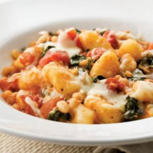 Skllet Gnocchi with spinach and Cannellini Beans