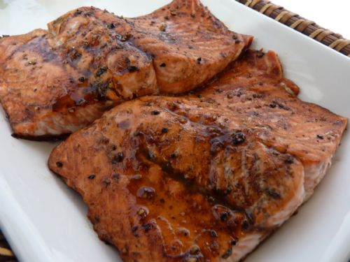 Honey Mustard and Balsamic Glazed Salmon