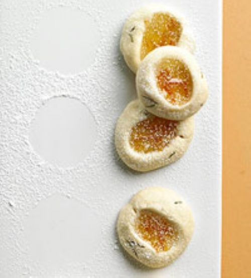 Rosemary Orange Thumbprint Cookies
