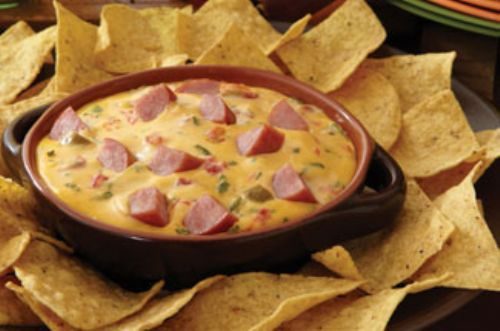 Rich N' Cheesy Smoked Sausage Cheese Dip
