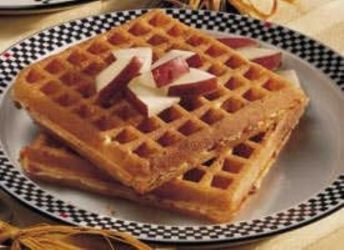 Bacon and Swiss Waffles