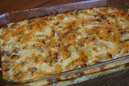 Potato and Sausage Breakfast Casserole