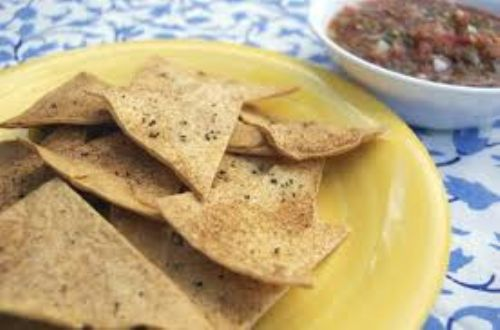 Garlicky Black Pepper Tortilla Chips