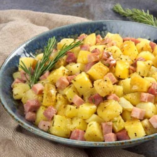 Yukon Gold Potatoes and Ham