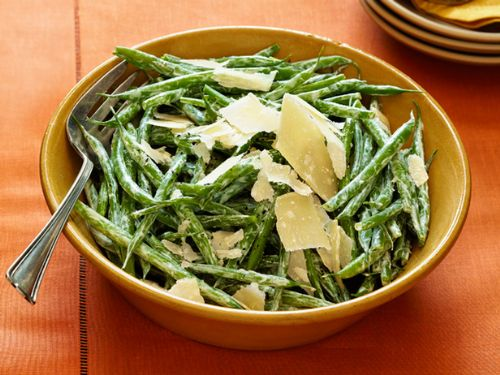 Green Beans with Shaved Parmesan