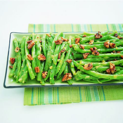 Green Beans with Orange Essence and Toasted Pecans