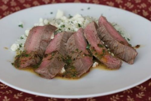 Chipotle-Herb Flank Steak with Cilantro Rice