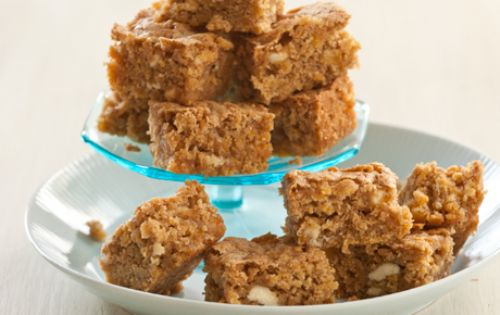 Butternut Blondies with White Chocolate Chunks