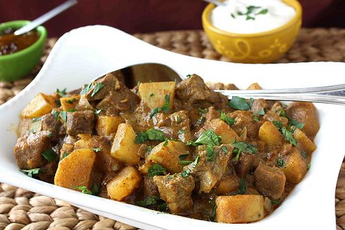 Mum's Savory Beef and Potato Curry