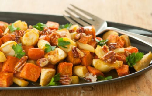 Roasted Parsnips and Sweet Potatoes