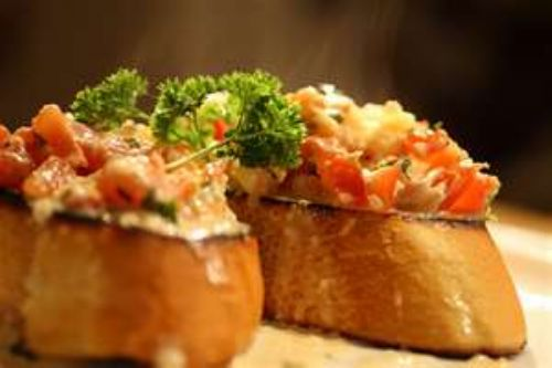 Bruschetta with Shrimp and Tarragon