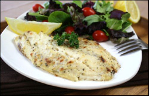 Parmed-Up Broiled Talapia