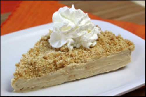 Freezy Downside-Up Peanut Butter Dream Pie