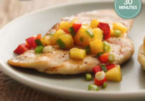 Grilled Chicken Breasts With Georgia Peach Salsa