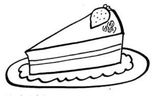 Line Drawing Cake : Carrot line drawing