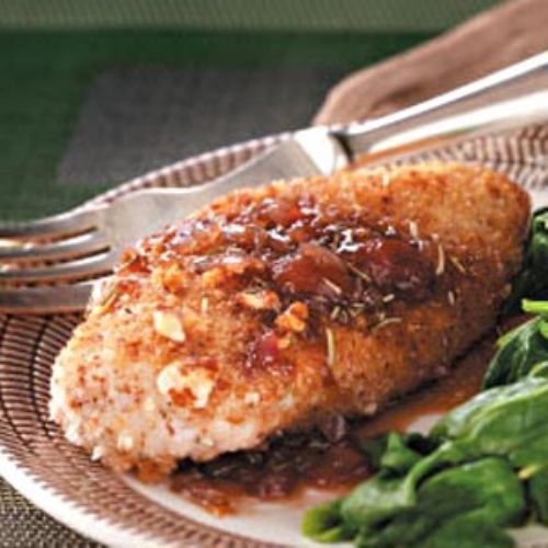 Almond Chicken & Strawberry-Balsamic Sauce Recipe
