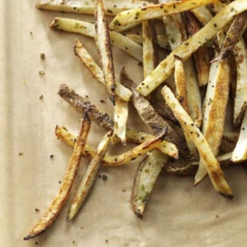Garlic Chive Baked Fries