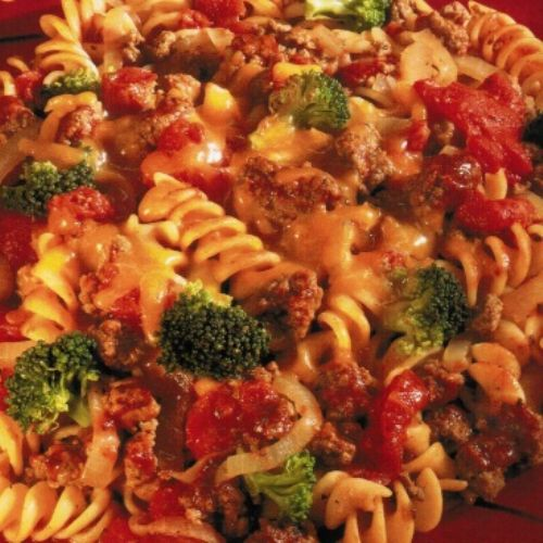 Crock Pot Broccoli and Beef Pasta