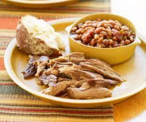 Crock Pot Pulled Pork With Cider-Baked Beans