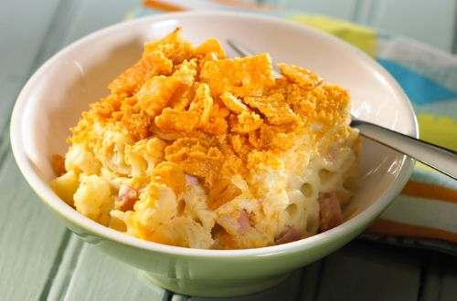 Baked Mac and Cheese with Ham