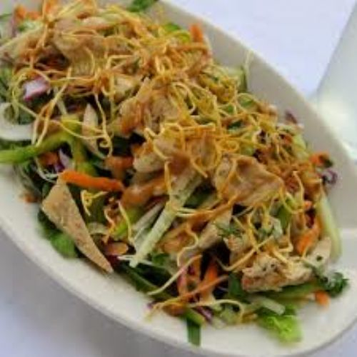 Sizzling Chicken Salad With Avocado Dressing