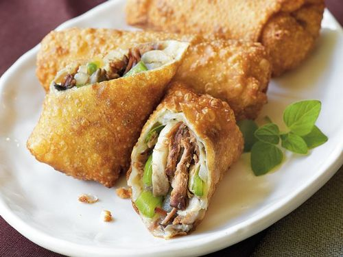 Philly Cheese Steak Egg Rolls