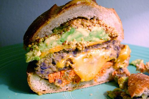 Vegetarian Juicy Lucy