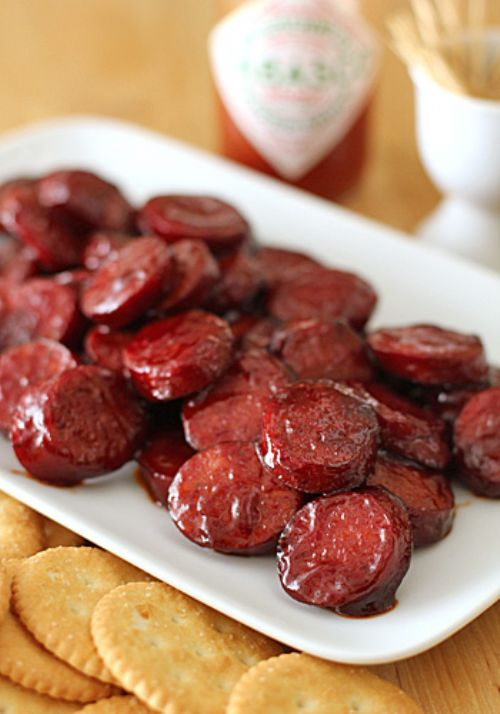 Pomegranate Glazed Sausage Bits