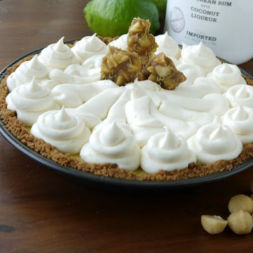 Key Lime Pie with White Chocolate Rum Cream Recipe