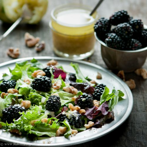 Blackberry Walnut Salad with Lime Ginger Vinaigret