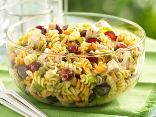 Chicken Pasta Salad w/ Grapes & Poppy Seed Dressin
