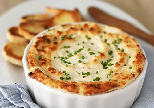 Hot Onion and Cheese Souffle Dip