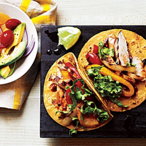 Garlic-Chipolte Chicken Tacos