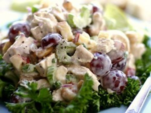 Chicken Salad with Grapes, Cashews, Apples and Fre
