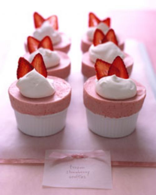 Frozen Strawberry Souffles