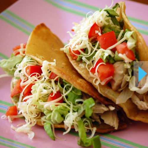 Chicken Tacos in Crockpot