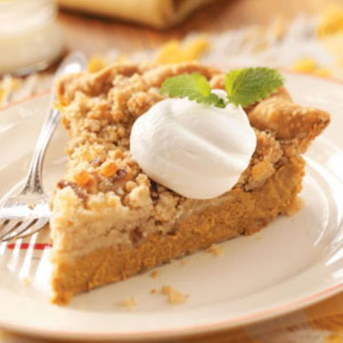 Ginger-Streusel Pumpkin Pie