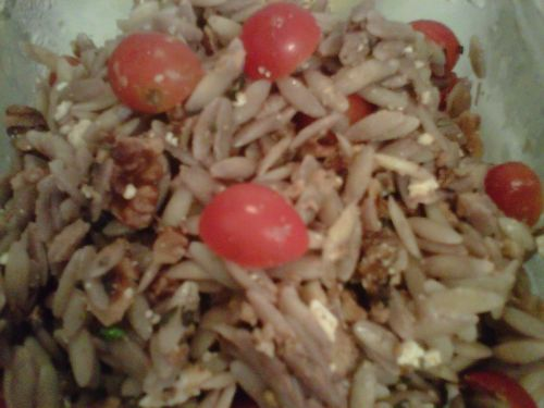 Orzo Salad with Walnuts, Oregano and Tomatoes