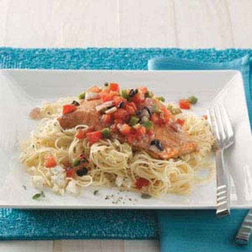 Mediterranean Roasted Salmon