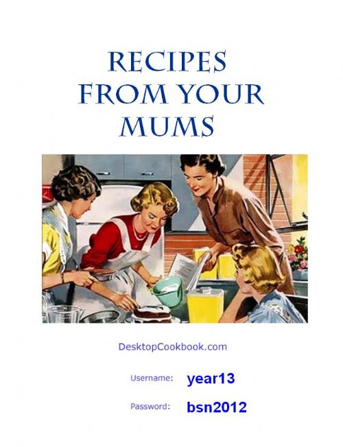 Cover cookbook