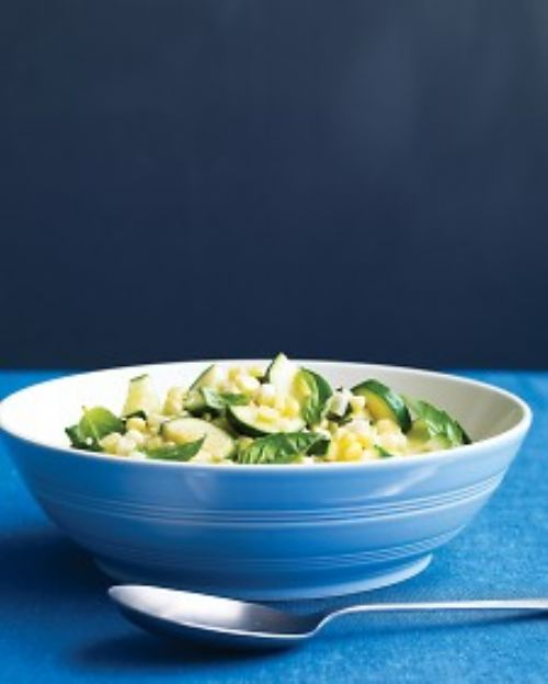 Corn and Zucchini Saute with Basil