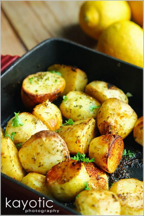 Roasted Lemon Potatoes Recipe