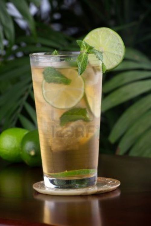 Mint and tea Cooler with Lime