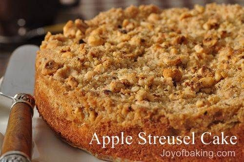 Apple Cinnamon Streusel Bundt Cake